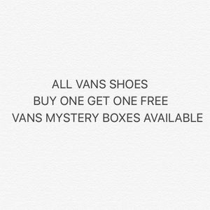 VANS SHOES BUY ONE GET ON FREE